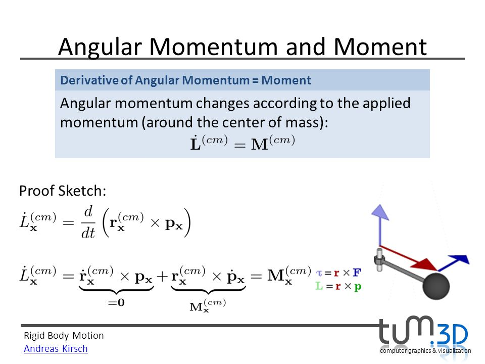 Angular Momentum and Moment