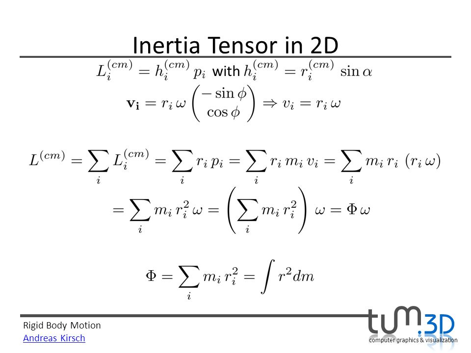 Inertia Tensor in 2D with