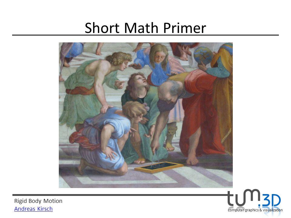 Short Math Primer