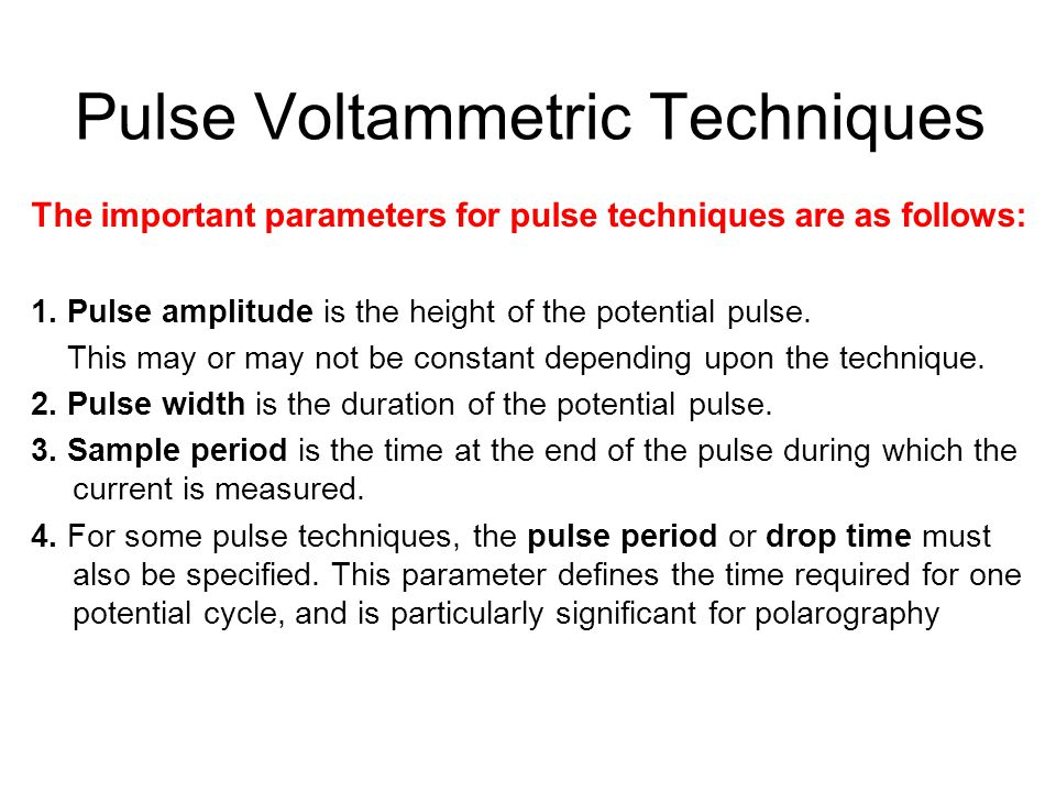 Pulse Voltammetric Techniques