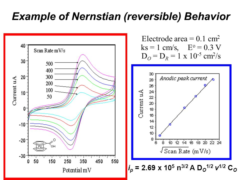 Example of Nernstian (reversible) Behavior