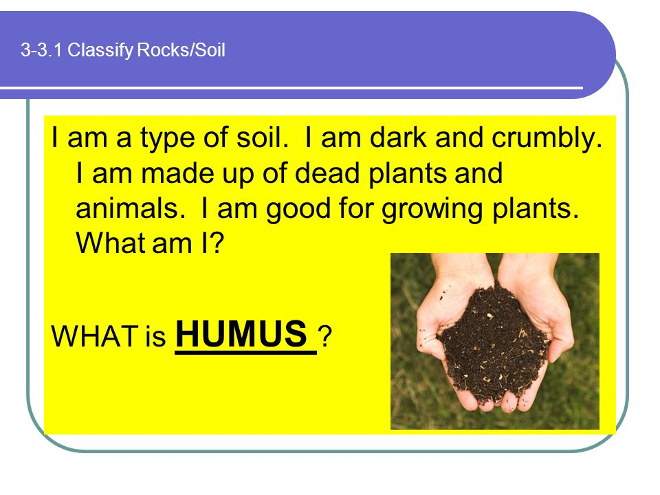 3-3.1 Classify Rocks/Soil