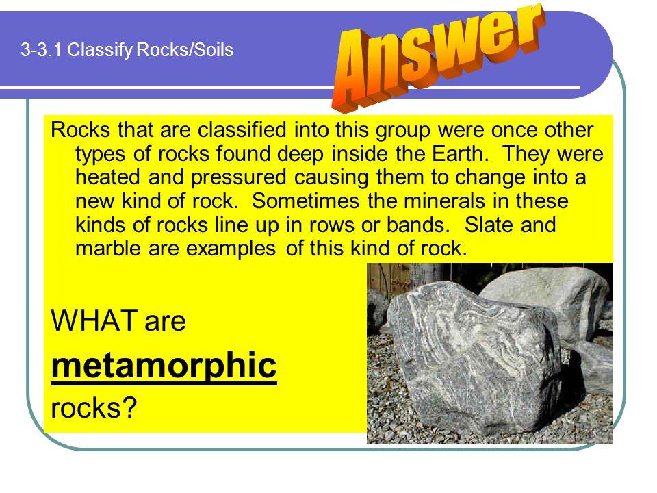 3-3.1 Classify Rocks/Soils
