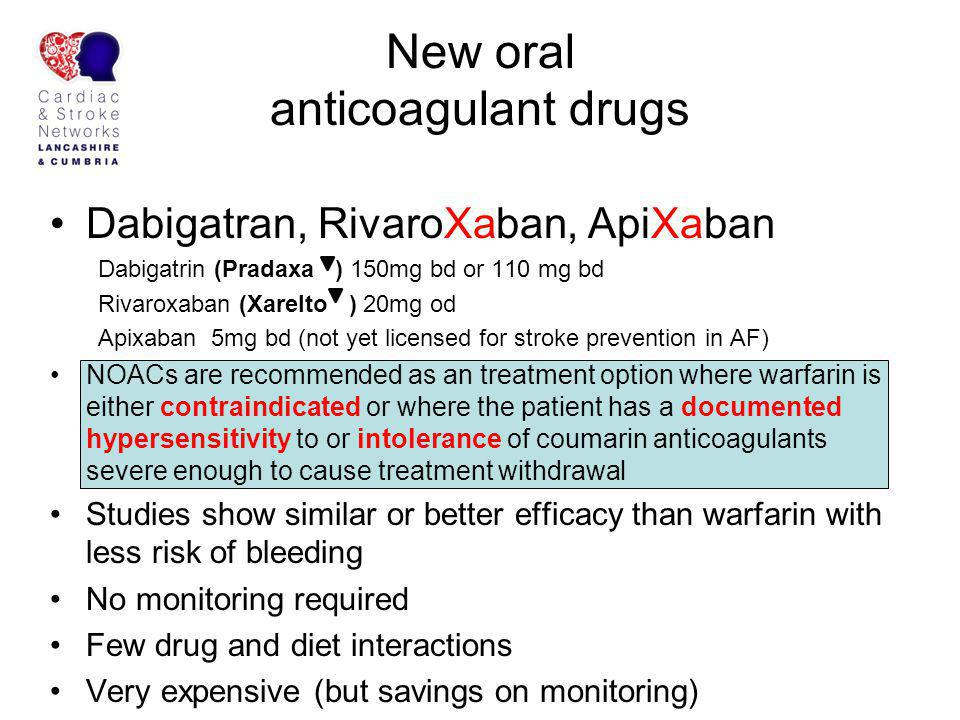 New oral anticoagulant drugs