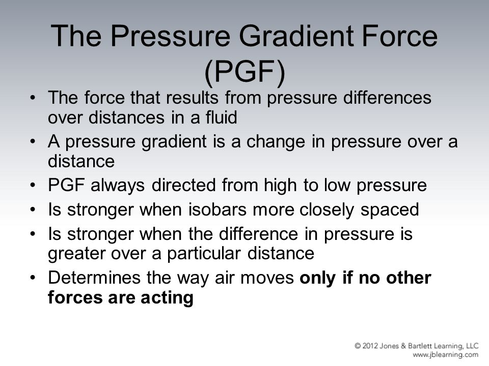 The Pressure Gradient Force (PGF)