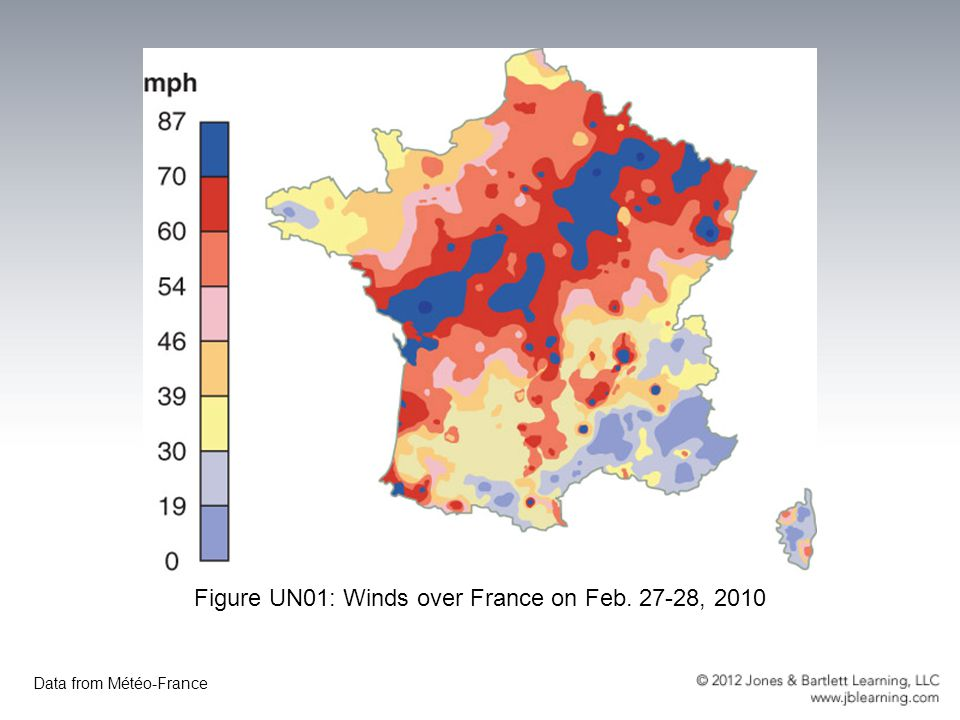 Figure UN01: Winds over France on Feb. 27-28, 2010