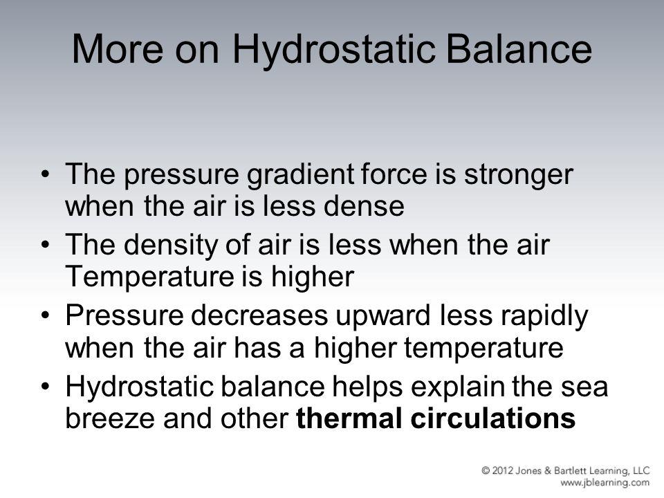 More on Hydrostatic Balance