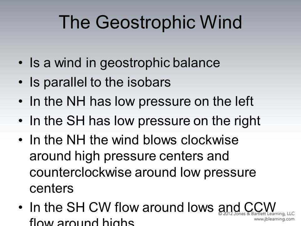The Geostrophic Wind Is a wind in geostrophic balance