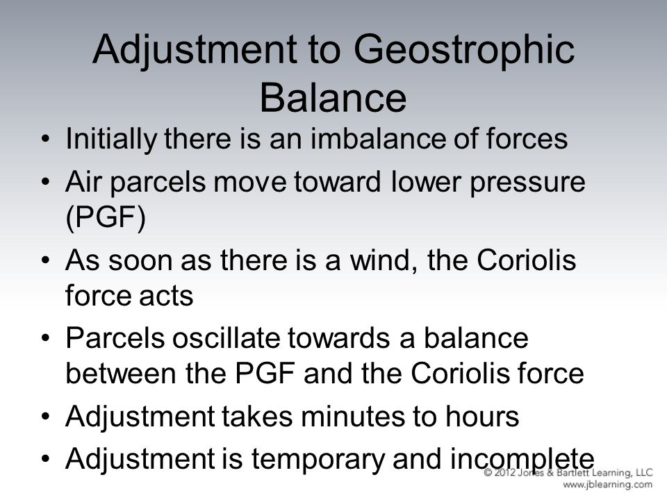 Adjustment to Geostrophic Balance
