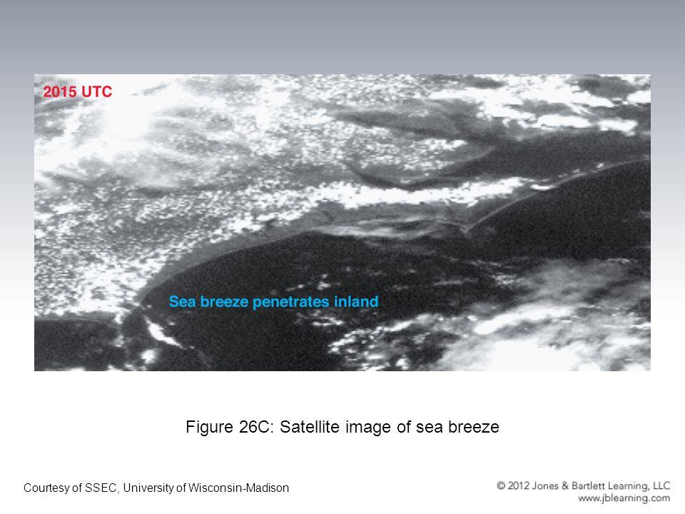 Figure 26C: Satellite image of sea breeze