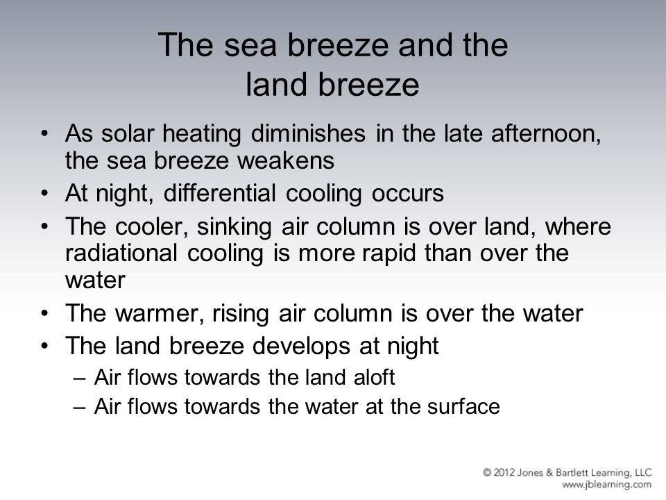 The sea breeze and the land breeze