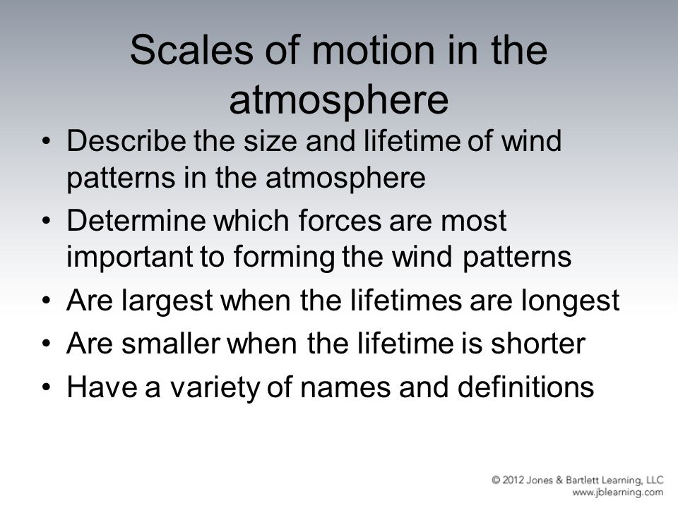 Scales of motion in the atmosphere