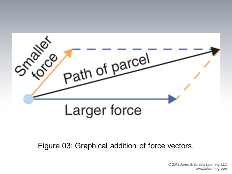 Figure 03: Graphical addition of force vectors.