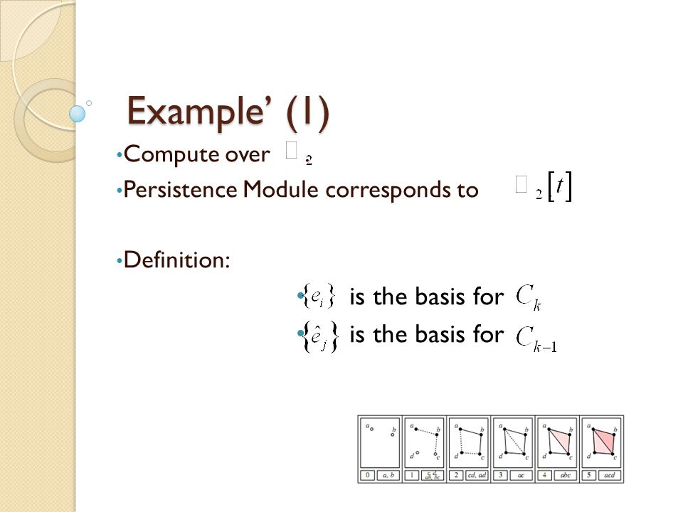 Example' (1) is the basis for Compute over .