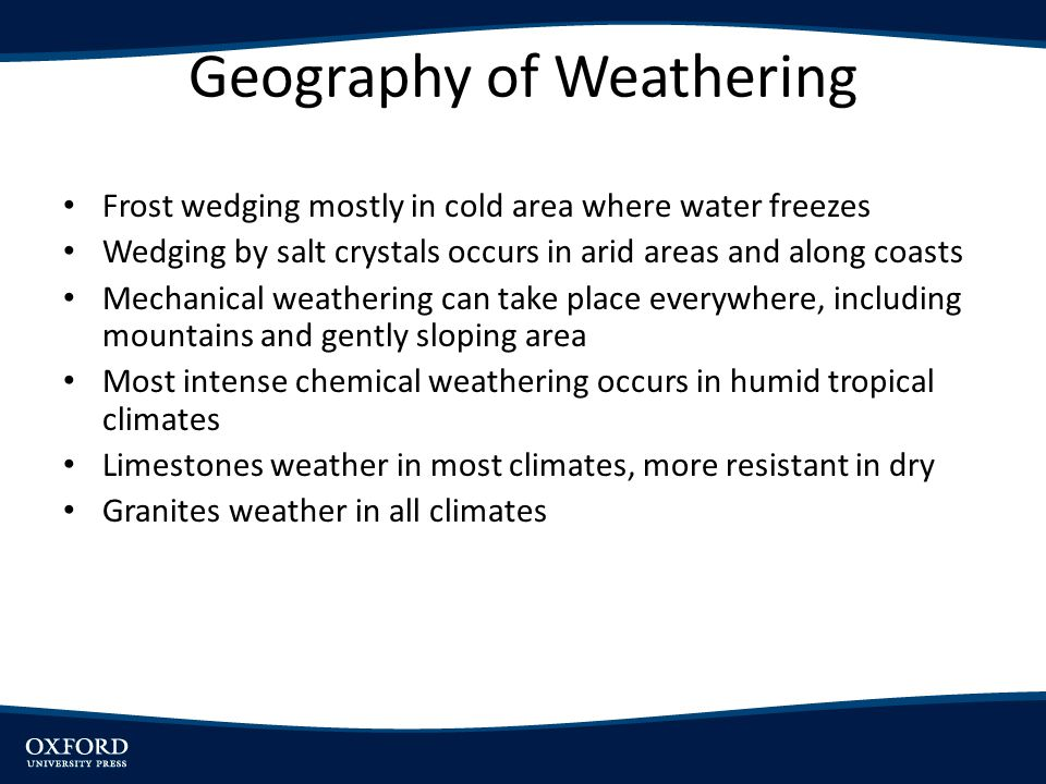 Geography of Weathering