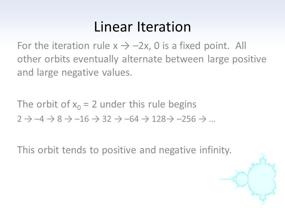 Linear Iteration