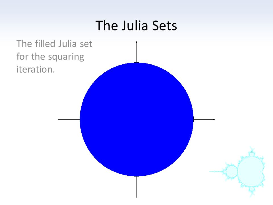 The filled Julia set for the squaring iteration.