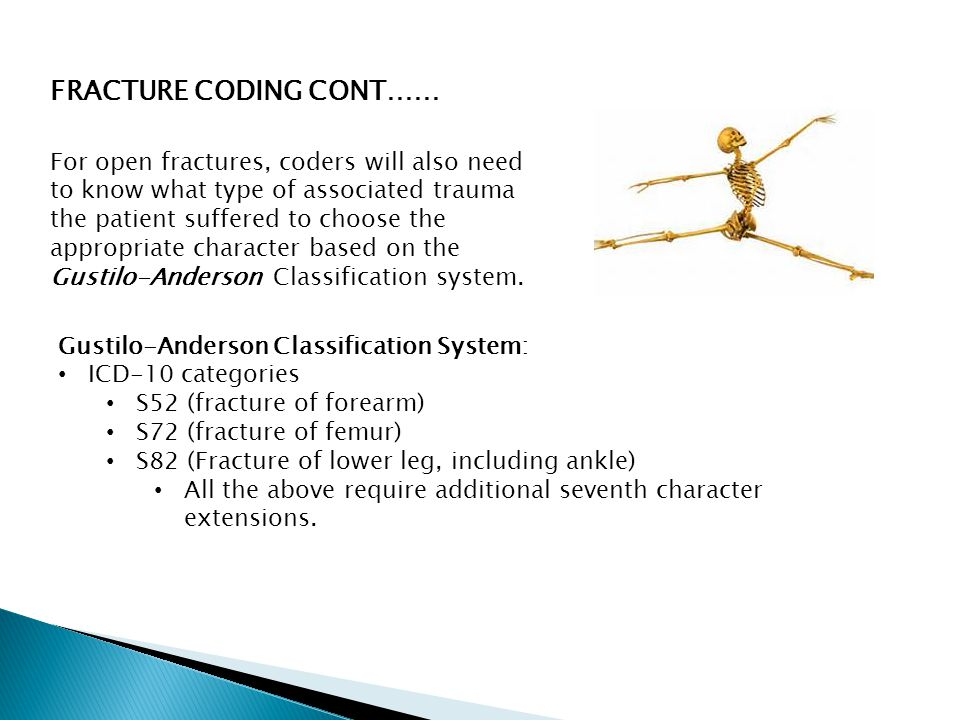 FRACTURE CODING CONT……