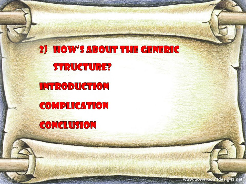 How's about the generic structure