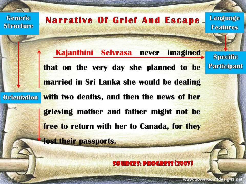 Narrative Of Grief And Escape