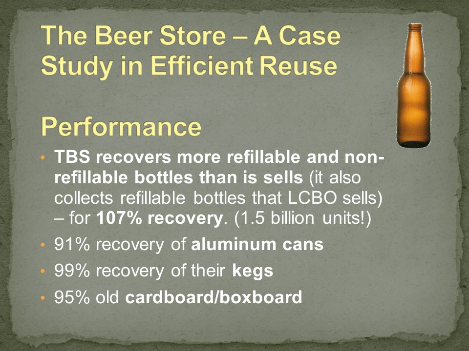 The Beer Store – A Case Study in Efficient Reuse Performance