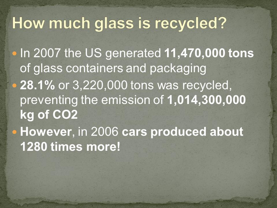 How much glass is recycled