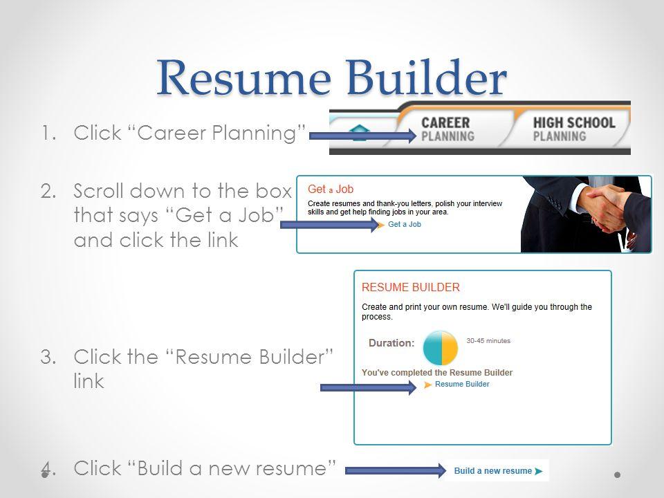 Resume Builder Click Career Planning