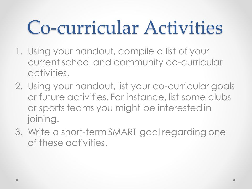 Co-curricular Activities