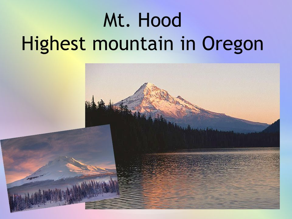 Highest mountain in Oregon