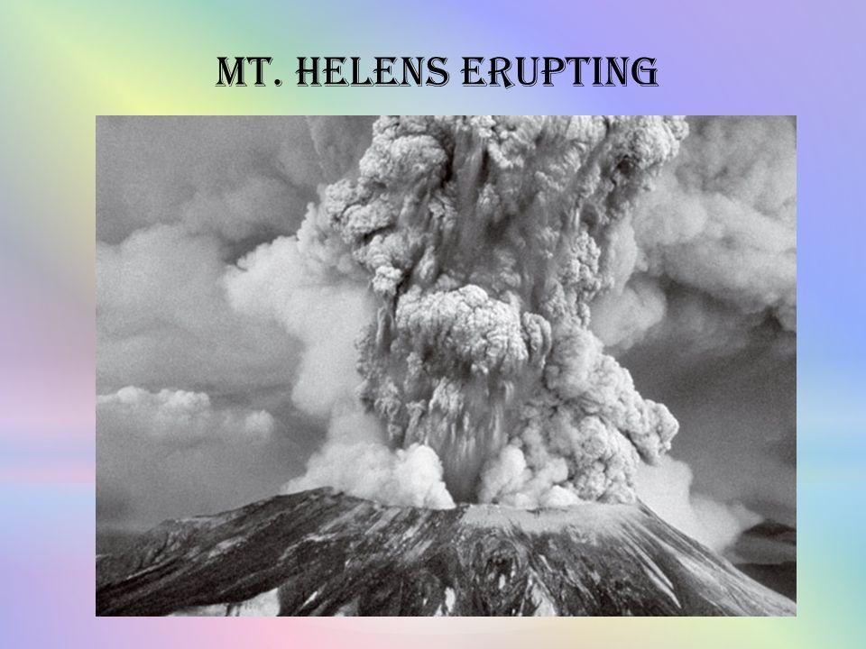 Mt. Helens Erupting