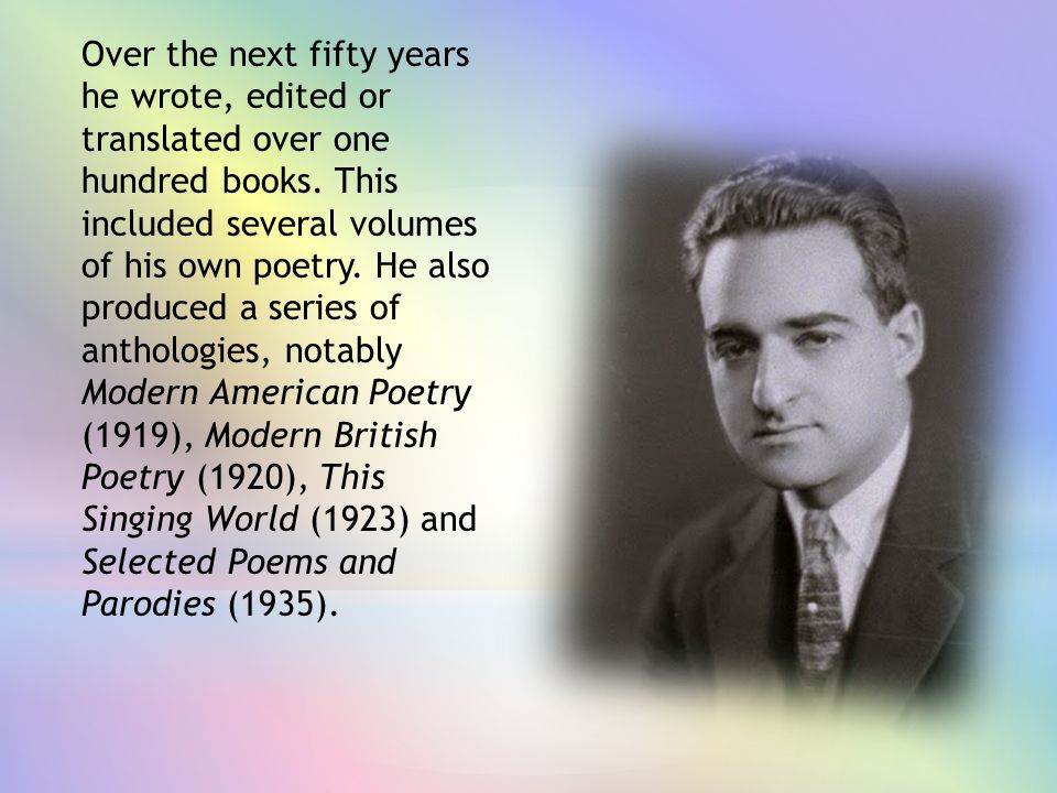 Over the next fifty years he wrote, edited or translated over one hundred books.