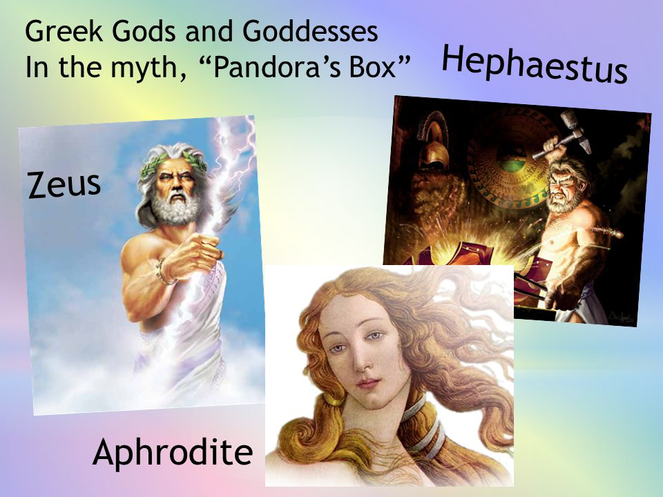 Hephaestus Zeus Aphrodite Greek Gods and Goddesses