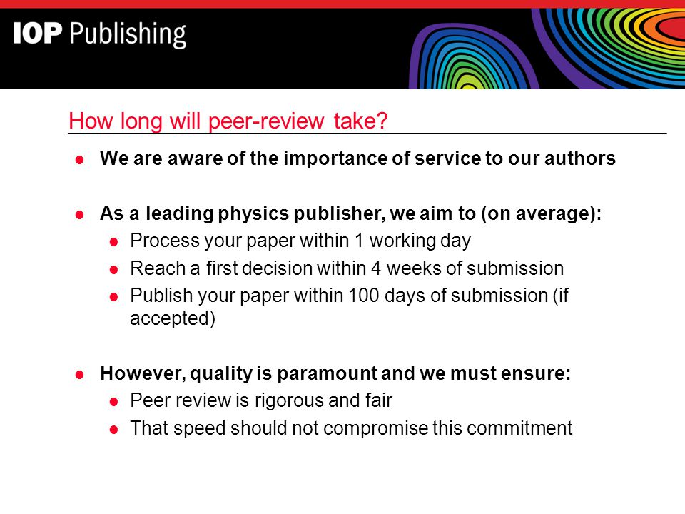 How long will peer-review take
