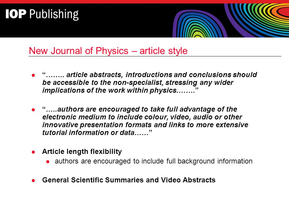 New Journal of Physics – article style
