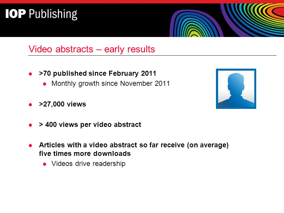 Video abstracts – early results