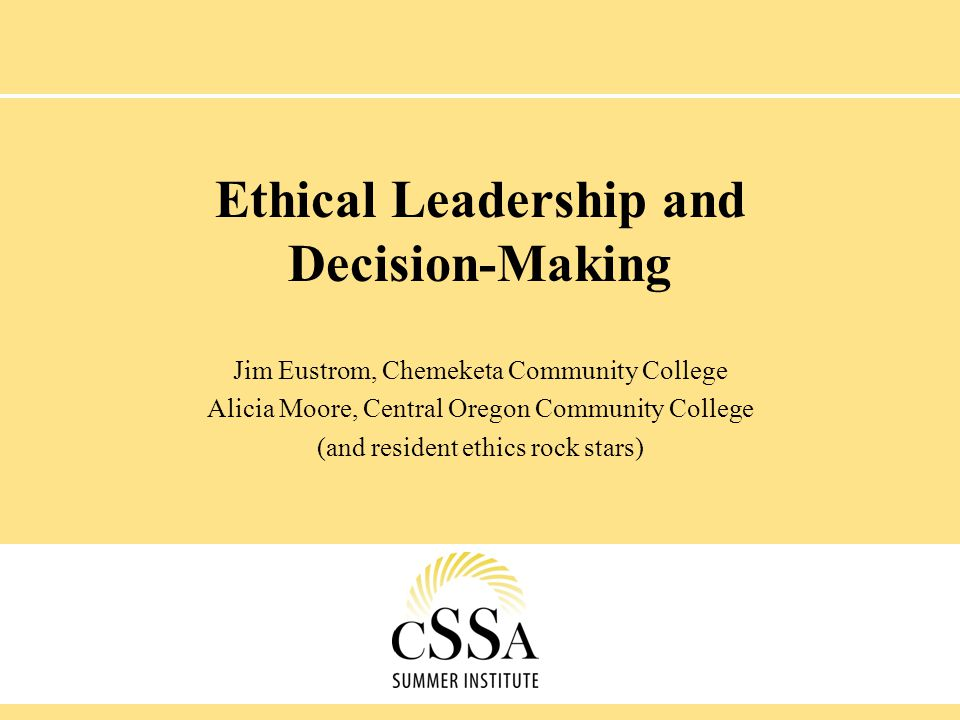 Ethical Leadership and