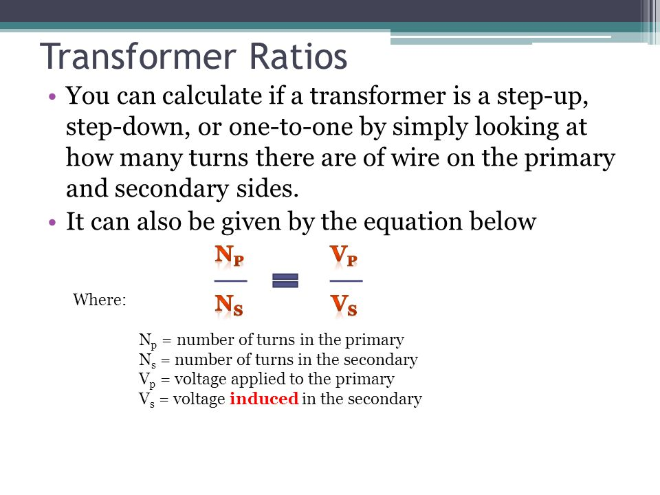 Transformer Ratios