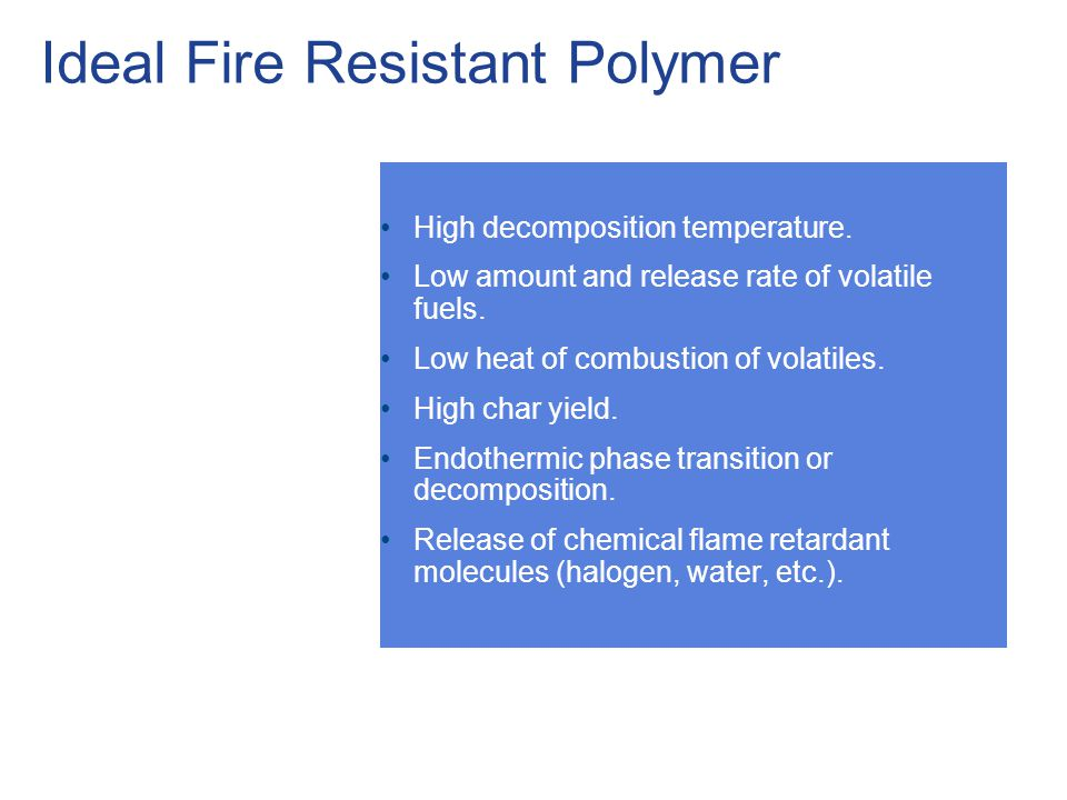 Ideal Fire Resistant Polymer
