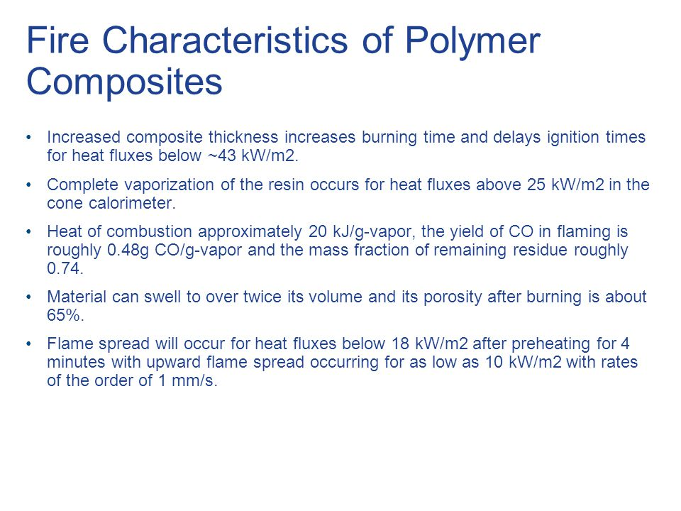 Fire Characteristics of Polymer Composites