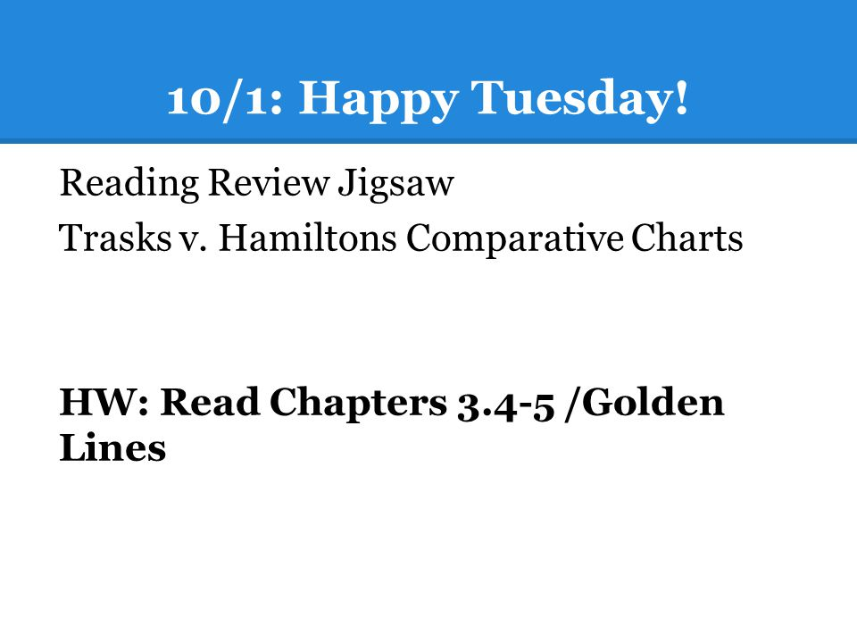 10/1: Happy Tuesday! Reading Review Jigsaw