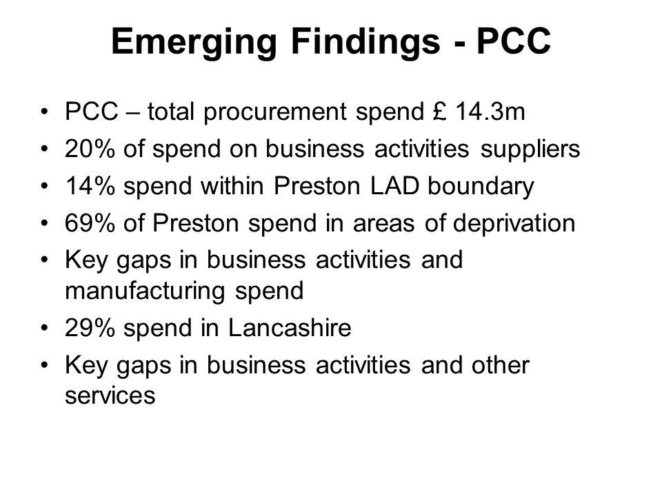 Emerging Findings - PCC
