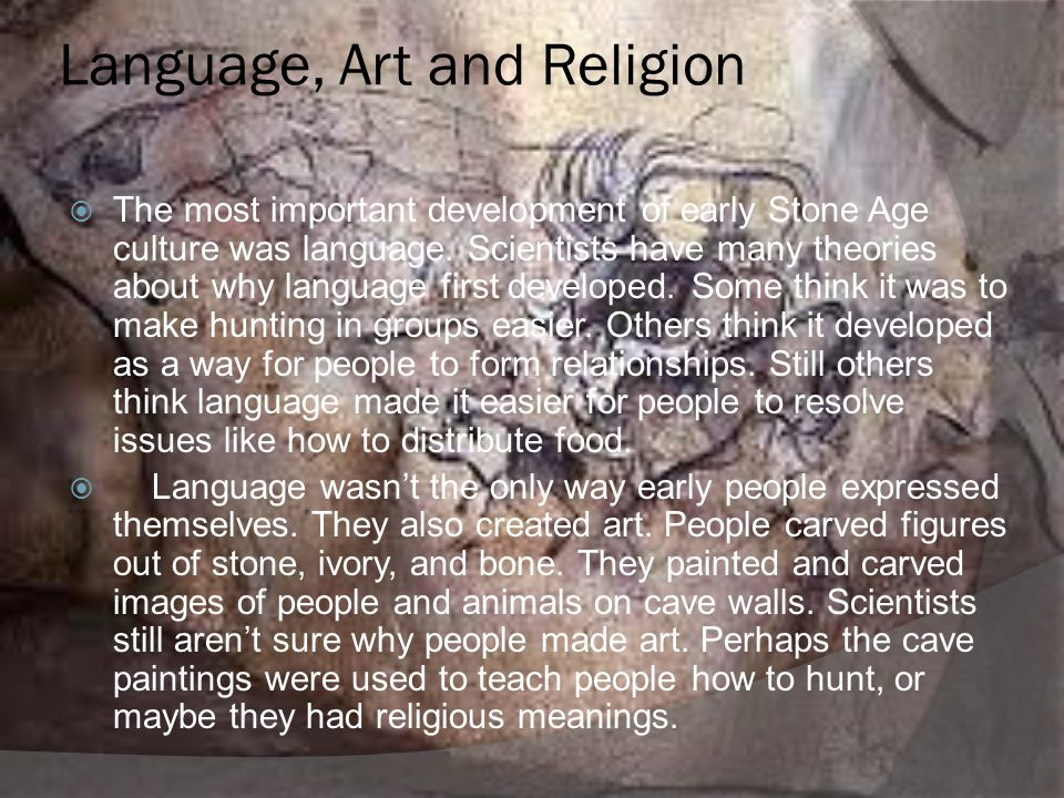 Language, Art and Religion