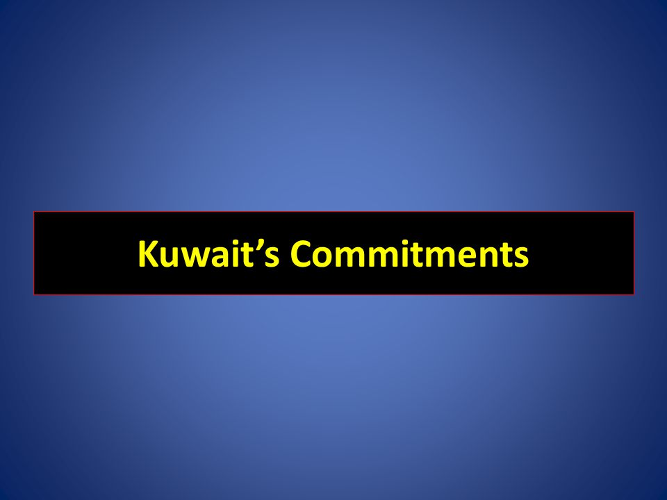 Kuwait's Commitments