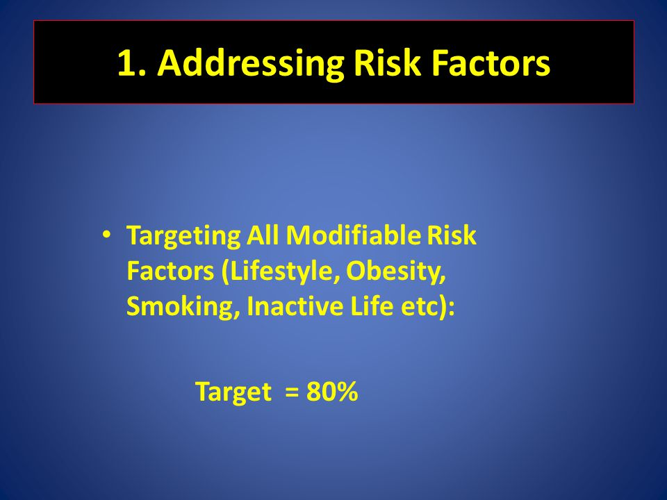 1. Addressing Risk Factors