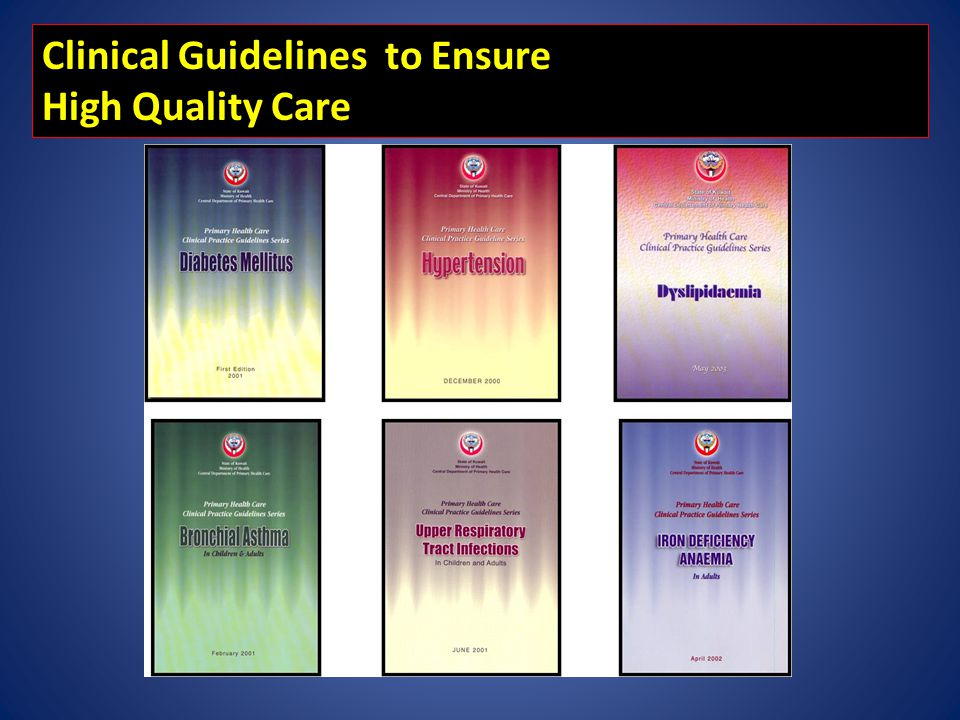 Clinical Guidelines to Ensure