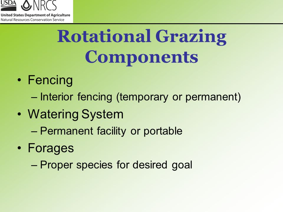 Rotational Grazing Components