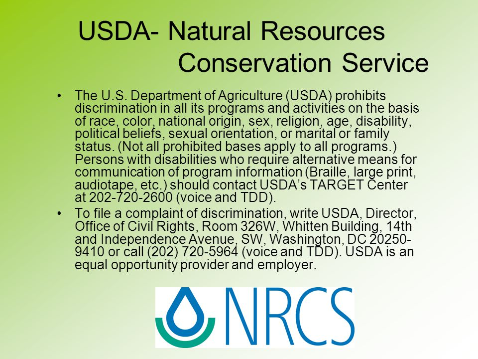 USDA- Natural Resources Conservation Service