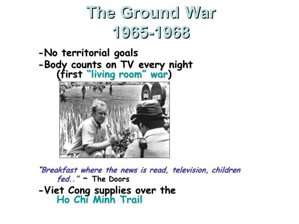 The Ground War 1965-1968 -No territorial goals