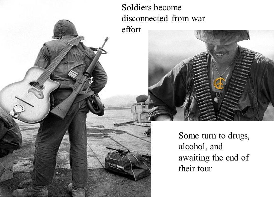 Soldiers become disconnected from war effort