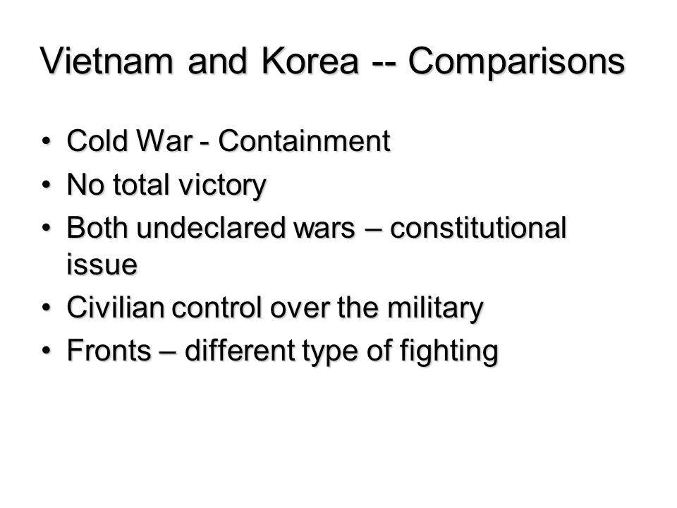 Vietnam and Korea -- Comparisons